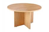 CK Executive 1200 Diameter Round Table - Crown Cut Oak