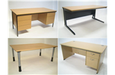 Various Straight Used Desks In Small Quantities