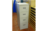 Second Hand Midi 4 Drawer Filing Cabinet In Light Grey CKU1233