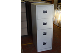 Used Midi 4 Drawer Filing Cabinet In Light Grey With Black Handles CKU1241