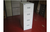 Used Silverline Midi 4 Drawer Filing Cabinet In Light Grey CKU1349