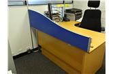 Second Hand 1600 Wave Desk Mounted Screens In Blue/Purple CKU1380