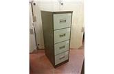 Used Art Metal Retro Filing Cabinet In Coffee Cream CKU1448
