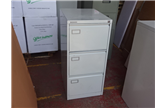 Used Vickers 3 Drawer Filing Cabinet In Light Grey CKU1457
