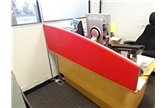 Used 1600 Wave Desk Mounted Screen In Red CKU1471