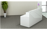 CK Reception Desk - White High Gloss