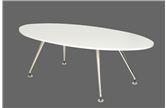 CK Oval Shaped Boardroom Table - White