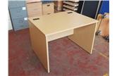 Used 1000 Straight Panel End Desk in Light Oak  CKU1571