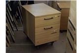 Used 2 Drawer Mobile Pedestal In Light Oak CKU1588