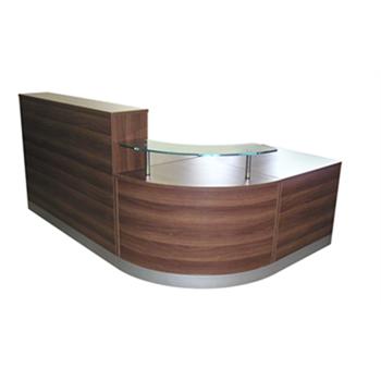 CK Reception Desk - Dark Walnut
