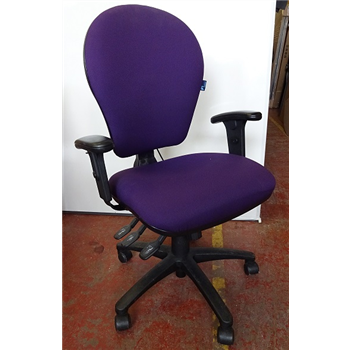 Purple Operator Chair with arms