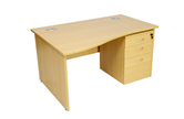 CK Wave Desks With Panel-End Legs