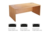 CK Executive Desk Range - Crown Cut Oak