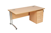 CK Straight Desks With Cantilever Legs