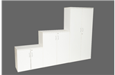 CK White Stationery Cupboards