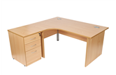 CK Radial Desks With Panel-End Legs