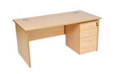 CK Straight Desks With Panel-End Legs