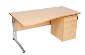 CK Wave Desks With Cantilever Legs
