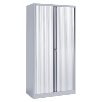 Bisley Tall Tambour Cupboard - Grey