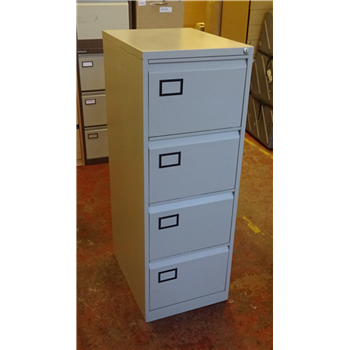 check out 0b8d2 6e99f Used Triumph Trilogy 4 Drawer Filing Cabinet In Light Grey