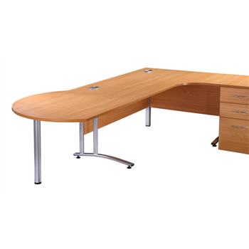CK Desk-End Meeting Table - Beech