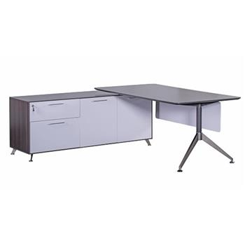 CK Ruben Executive Desk + Return Unit (Left-Hand Return)