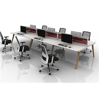 Vega Wood Bench Desk System