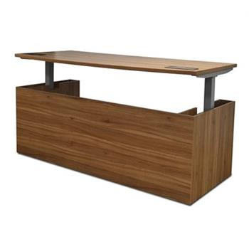Executive Sit Stand Desk In Walnut