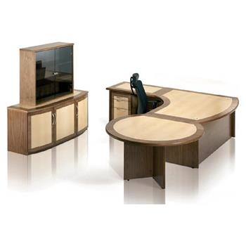 Executive Desk & Return With Storage Unit