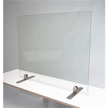 Excel Glass Screen - On Freestanding Metal Feet