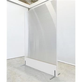 Semi Clear Polycarbonate Floorstanding Screen