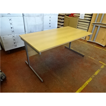 Used 1520 Straight Desk Beech No Drawers | Used Office Desks