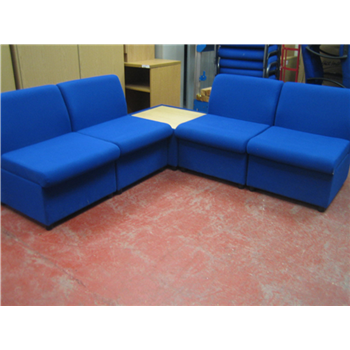 Peachy Used Blue Brs Modular Reception Seating Used Second Hand Download Free Architecture Designs Intelgarnamadebymaigaardcom