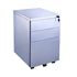 CK 3-Drawer Silver Mobile Pedestal
