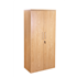 CK Executive 1800 High Double Door Stationery Cupboard - Crown Cut Oak