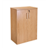 CK Executive 1200 High Double Door Stationery Cupboard - Crown Cut Oak