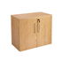 CK Executive 730 High Double Door Stationery Cupboard - Crown Cut Oak