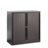Bisley Short Tambour Cupboard - Black