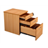 CK 3-Drawer Mobile Under-Desk Pedestal - Beech