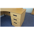 Second Hand 1600 Radial In Light Oak Desk High Pedestal