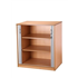CK 1200 High Tambour Cupboard With Doors Open - Beech