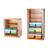 CK Wooden Tambour Cupboards Showing Roll-Out Filing Cradles