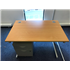 Used 1200 Beech Straight Silver 2 Drawer Mobile Pedestal