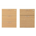 Start 3-Drawer Fixed Pedestal (Beech) & Start 2-Drawer Fixed Pedestal (Oak)