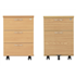 Start 3-Drawer Mobile Pedestal (Beech) & Start 2-Drawer Mobile Pedestal (Oak)