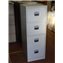 Used Midi 4 Drawer Filing Cabinet in Light Grey With Black Handles