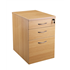 CK 3-Drawer Mobile Under-Desk Pedestal - Oak