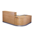 CK Reception Desk - Crown Cut Oak
